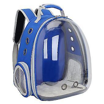 Cat Carrier Batoh, Vesmírná kapsle Knapsack Pet Cestovní taška Vodotěsná prodyšná (tmavě modrá)