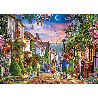 Gibsons Mermaid Street Rye Jigsaw Puzzle (500 XL Extra Large Pieces)