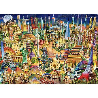 Ravensburger World Landmarks at Night Jigsaw Puzzle (1000 Pieces)