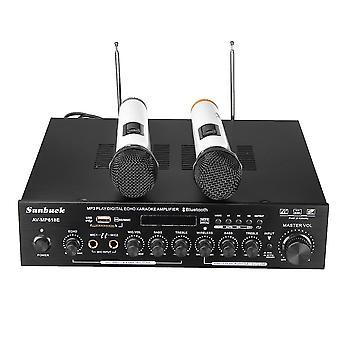 Sunbuck AV-MP618E 400W 2Ch digitální karaoke zesilovač bezdrátový mikrofon přijímač systém