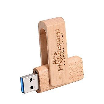 USB3.0 Kunde LOGO Holz Flash Drive Holz Pendrive 64GB Memory Stick