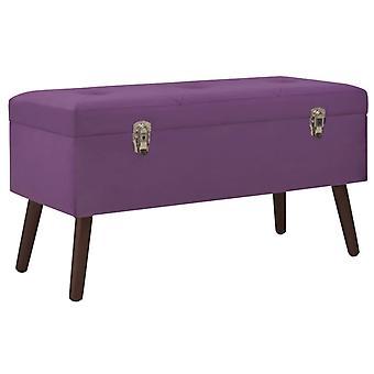 vidaXL bench with storage compartment Purple 80 cm velvet