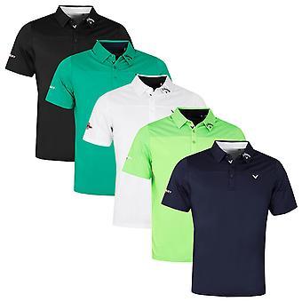 Callaway Golf Mens 2021 Odyssey Bloque Ventilado Humedad Wicking Polo Shirt