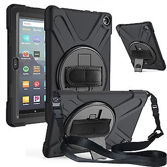 Shockproof Case For Amazon Fire Hd 8 2020 With Hand And Shoulder Straps