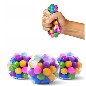 3pcs Clear Colorful Stress Balls Et godt gavevalg som kan slappe av folk og lindre noe av stresset