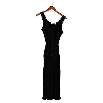 سوزان غريفر بيتيت Jumpsuits السائل متماسكة جامبسوت الأسود قطعة واحدة A378583