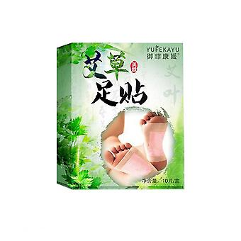 10pcs Wormwood Foot Pads Medicament Care Foot Patch Moxa Foot Sticker Sleeping Foot Patch