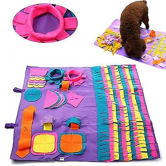 Pet dog sniffing mat find food training pad foraging skill blanket puzzle toy zf0459