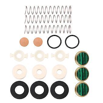 Boutons de doigt de trompette en métal vert et kits d'outils de réparation de trompette