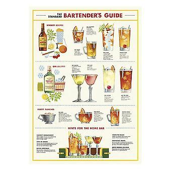 Cavallini Bartenders Vintage Poster | Wall Art Print Craft Bar Wrap Decoration