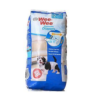 """Four Paws Wee Wee Vaipat koirille - 12 Pakkaus - X-Small (Koirat 4-8 lbs kanssa 10""""-13""""Vyötärö)"""