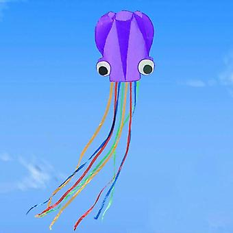(Purple) 30M String Line Octopus Kite Park Weekends Kids and Adults Easy to Fly Kite Fun