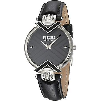 Versus Versace fekete valódi bőr VSPLH0119 Női Watch