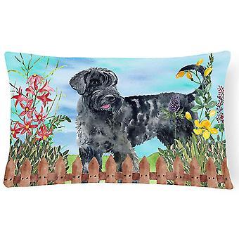 Pillows giant schnauzer spring canvas fabric decorative pillow