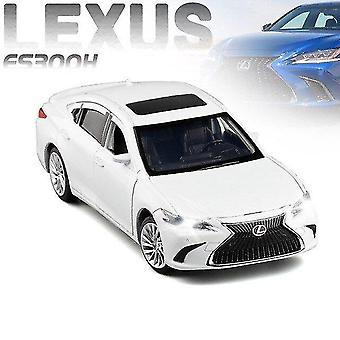 Toy cars 1:32 lexus es300h alloy pull back car model diecast metal toy vehicles with sound light 6 open doors