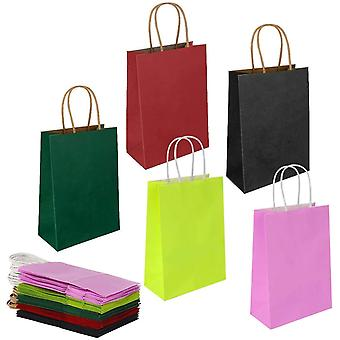 20pcs Paper Bags With Handles,thicken Gift Bagfor Party Wedding Favor