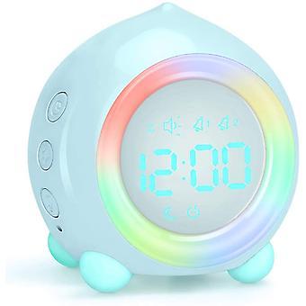 Digital Alarm Clock, Led Bedside Clock Dual Alarm Clock With Night Light,small Alarm Clock For Home Bedroom Travel, Usb Powered (light Blue)