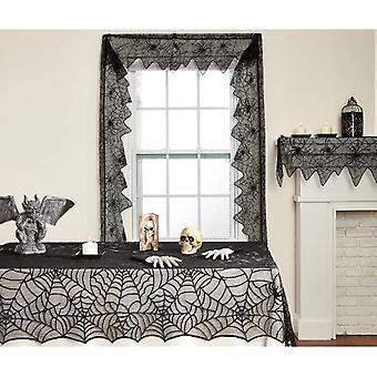 Swotgdoby Halloween Spider Web Mantel, Mantel de encaje clásico