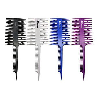 Parturi työkalu artefakti kaksipuolinen väritys korostaminen kampa leveä hammas vyöhyke värjäys kampaa kala luu hiukset sivellin salonki accessaries