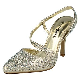 Dames Anne Michelle Slip op Sling terug avond schoenen