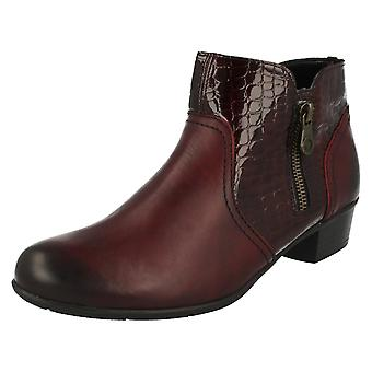 Ladies Remonte Heeled Ankle Boots D3574
