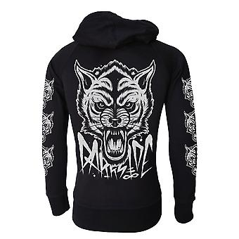 Darkside - occult wolf  - mens lightweight hoodie - black