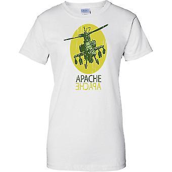 Apache Angriff Hubschrauber AH-64 Kampfhubschrauber - Damen-T-Shirt