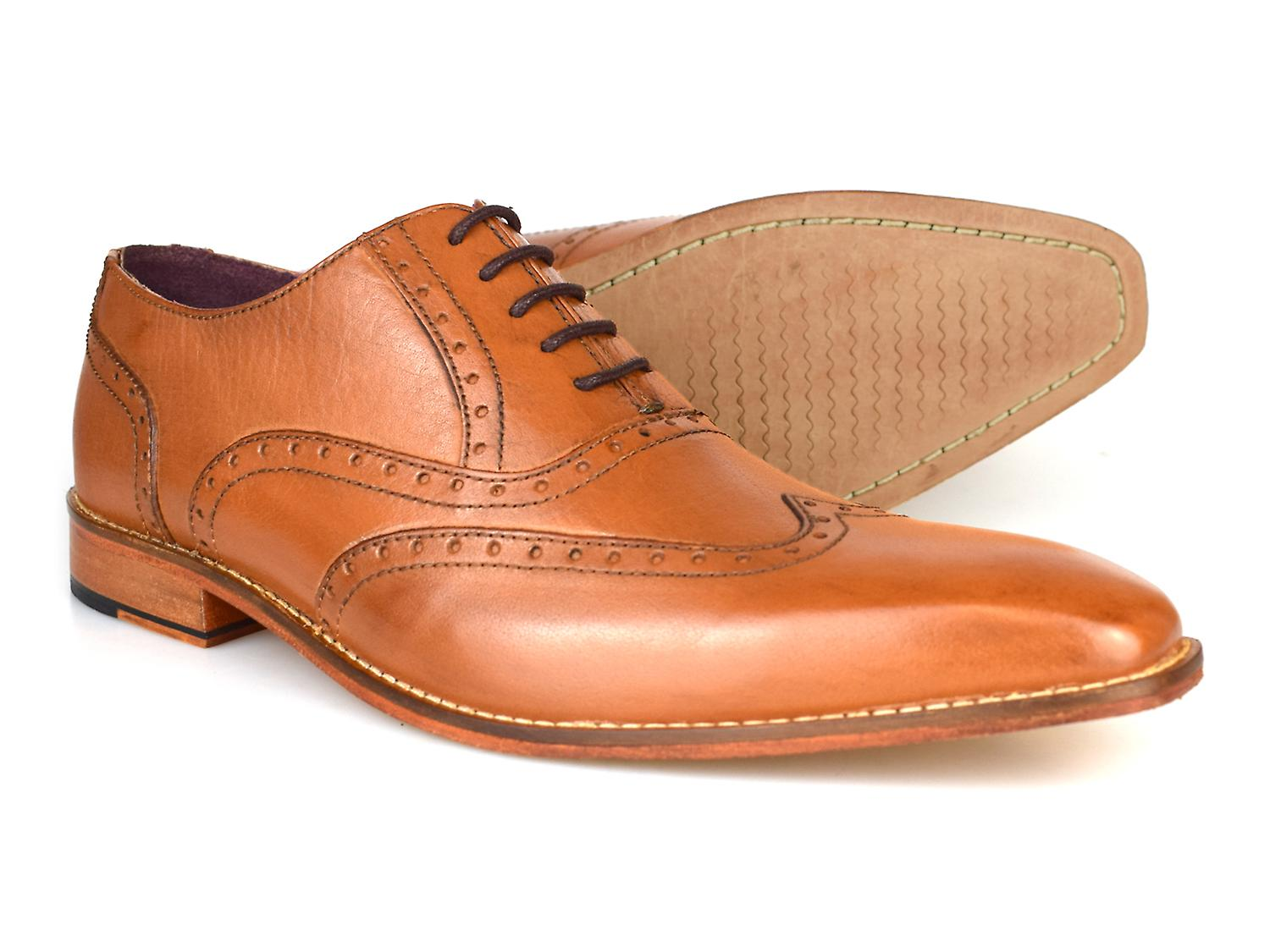 Gucinari Rothstein Tan Leather Formal Brogue Shoes AMP-20