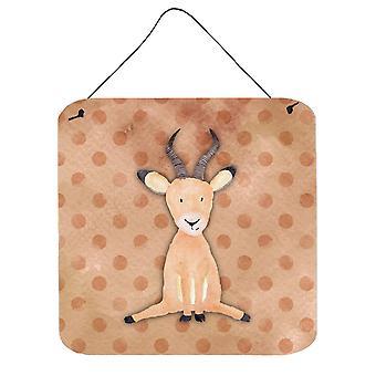 Parete dell'acquerello Polkadot antilope o porta appeso stampe