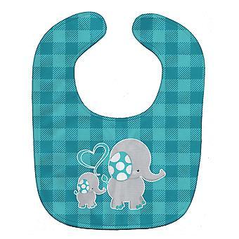 Carolines Treasures  BB6834BIB Mommy and Baby Elephant Baby Bib