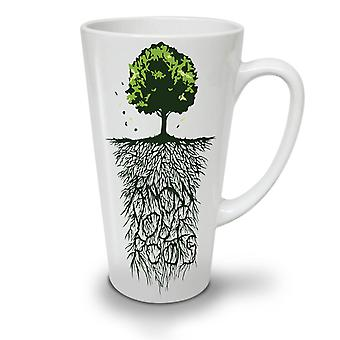 Earth Tree Roots Nature NEW White Tea Coffee Ceramic Latte Mug 12 oz | Wellcoda