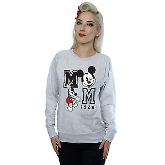 Disney Women's Mickey Mouse Jump And Wink Sweatshirt