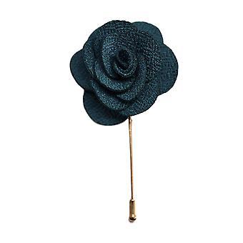 Teal Handmade kwiat/Rose klapy Pin do noszenia z męskie Bluza treningowa, żakiet, marynarka smokingowa lub marynarka smokingowa