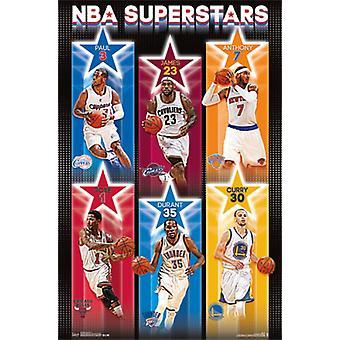 NBA - 14 supertähtiä Juliste Tulosta