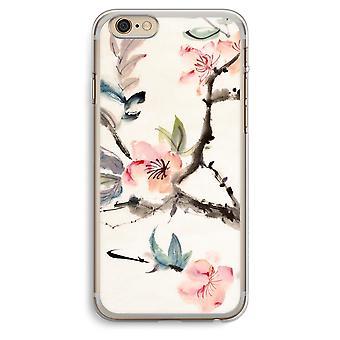 iPhone 6 Plus / 6S Plus caja transparente (suave) - flores de Japenese