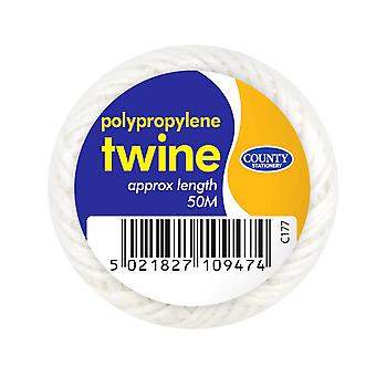 County Stationery Polypropylene String Balls (Pack Of 10)