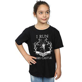 Disney Girls Maleficent I Run This Castle T-Shirt