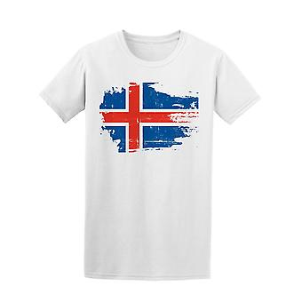 Scratched Iceland Flag Tee Men's -Image by Shutterstock