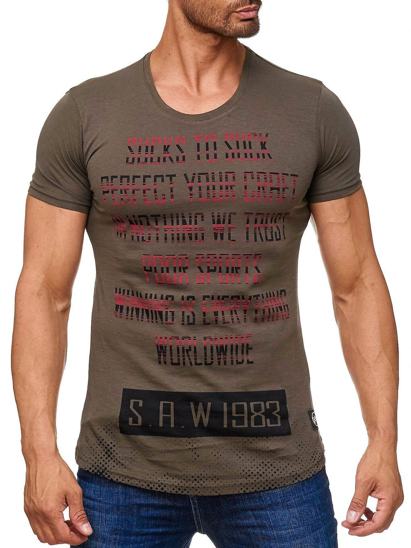 Menns skjorte Allover skrift skrive ut kort sleeved skjorte skrift klubb