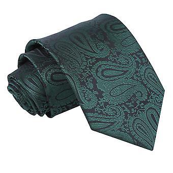 Lazo clásico Paisley verde esmeralda