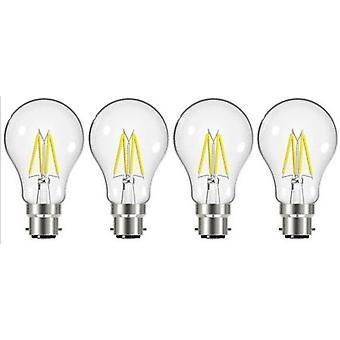 4 X Energizer 7.2W = 60W LED Filament GLS gloeilamp Vintage BC B22 bajonet lampvoet [energieklasse A +]
