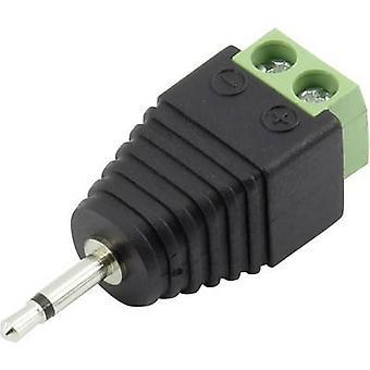Conrad komponenter 93013c 1141 2,5 mm audio domkraft plugg, rak antal stift: 2 Mono svart 1 dator