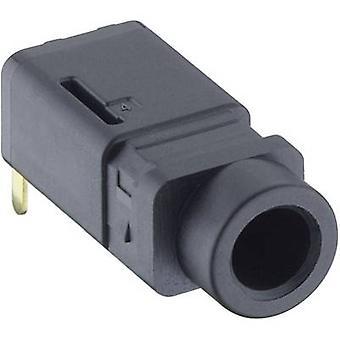 Lumberg 1503 16 3.5 mm audio jack Socket, horizontal mount Number of pins: 4 Stereo Black 1 pc(s)