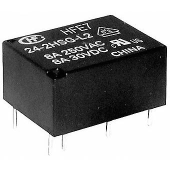 Hongfa HFE7/024-1HDST PCB relay 24 V DC 8 A 1 Maker, 1 Breaker 1 PC (s)