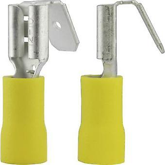 Vogt Verbindungstechnik 3933S Klinge Behälter + Niederlassung gemeinsame Stecker Breite: 6,3 mm Stecker Stärke: 0,8 mm 180° teilweise isoliert gelb 1 PC