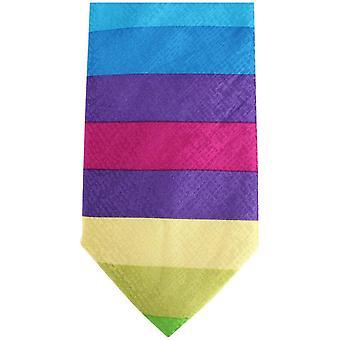 Kensington Knightsbridge Neckwear pasiasty krawat jedwabny - wielokolorowe