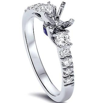 3 / 8ct Diamant-Verlobungsring Einstellung 950 Platin