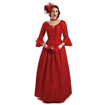 Szlachcianka Divanas kobiet Sukienka czerwona dama w czerwonym średniowiecza Panie kostium kostium Lady damska kostium