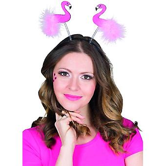 Flamingo Glitter Haarreif pink Accessoire Karneval Beachparty Sommer Hawaii