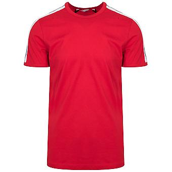 Antony Morato Sport Crew Neck Red Shoulder Taped T-Shirt